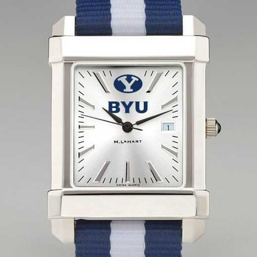 615789326939: Brigham Young Univ Collegiate Watch W/NATO Strap for Men