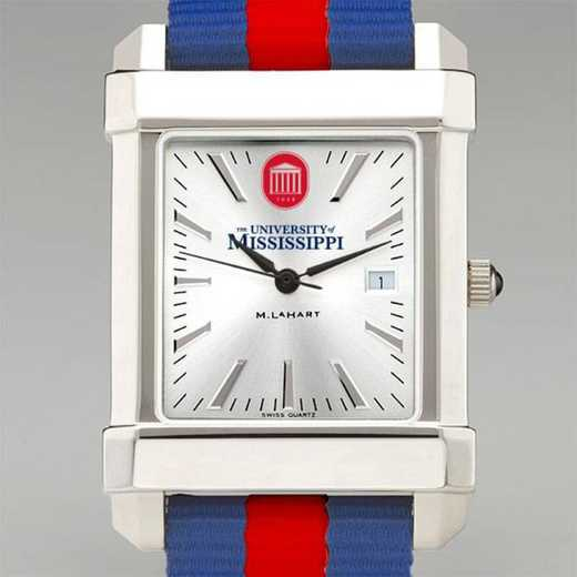 615789485124: Univ of Mississippi Collegiate Watch W/NATO Strap for Men