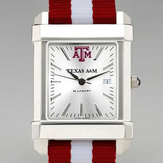 615789501350: Texas A&M Univ Collegiate Watch W/NATO Strap for Men