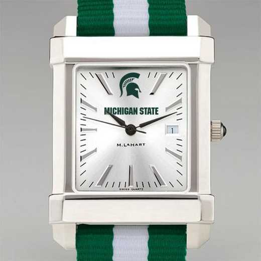 615789602880: Michigan State Univ Collegiate Watch W/NATO Strap for Men