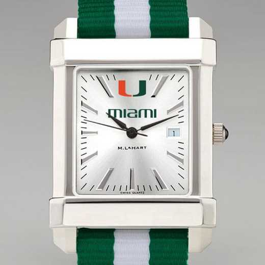 615789681434: Univ of Miami Collegiate Watch W/NATO Strap for Men