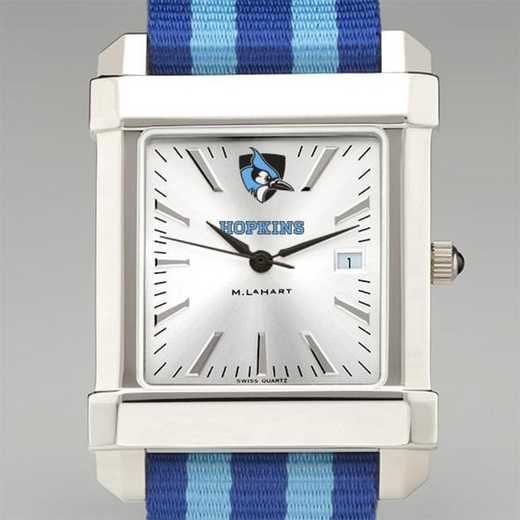 615789728368: Johns Hopkins Univ Collegiate Watch W/NATO Strap for Men
