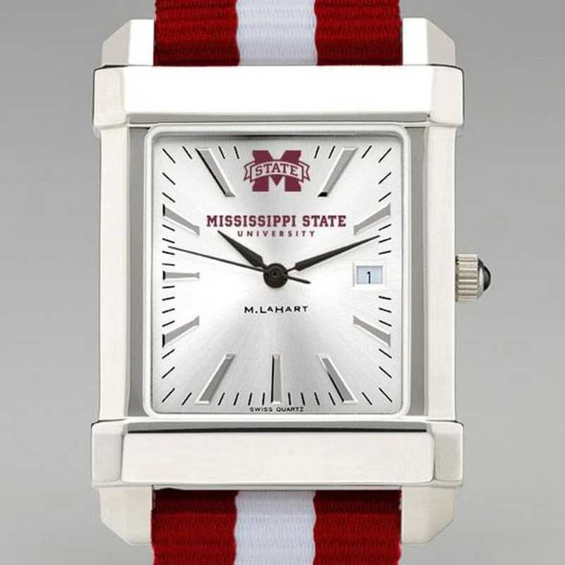 615789902874: Mississippi State Collegiate Watch W/NATO Strap for Men