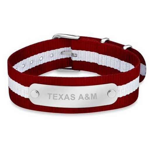 615789033400: Texas A&M (Size-Medium) NATO ID Bracelet