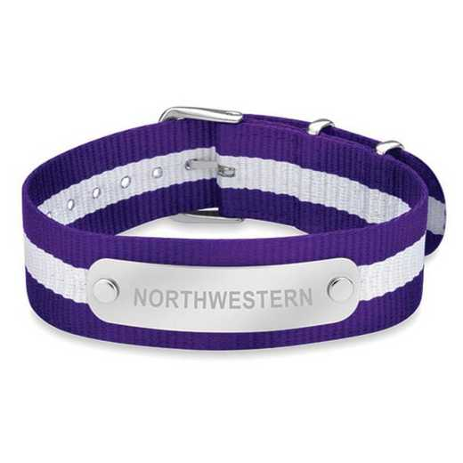 615789135784: Northwestern (Size-Medium) NATO ID Bracelet