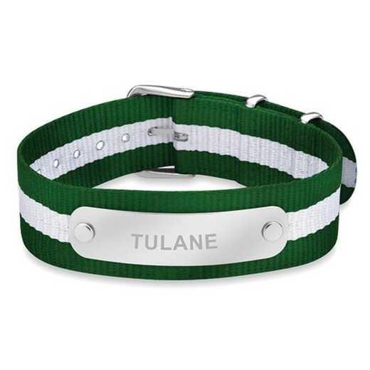 615789162544: Tulane University (Size-Large) NATO ID Bracelet