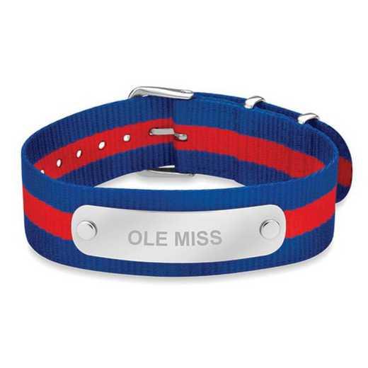 615789255437: Ole Miss (Size-Large) NATO ID Bracelet