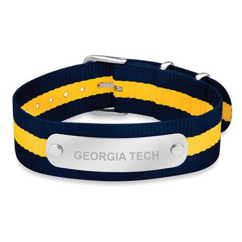 615789315124: Georgia Tech (Size-Large) NATO ID Bracelet