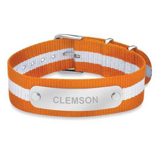 615789323815: Clemson (Size-Large) NATO ID Bracelet