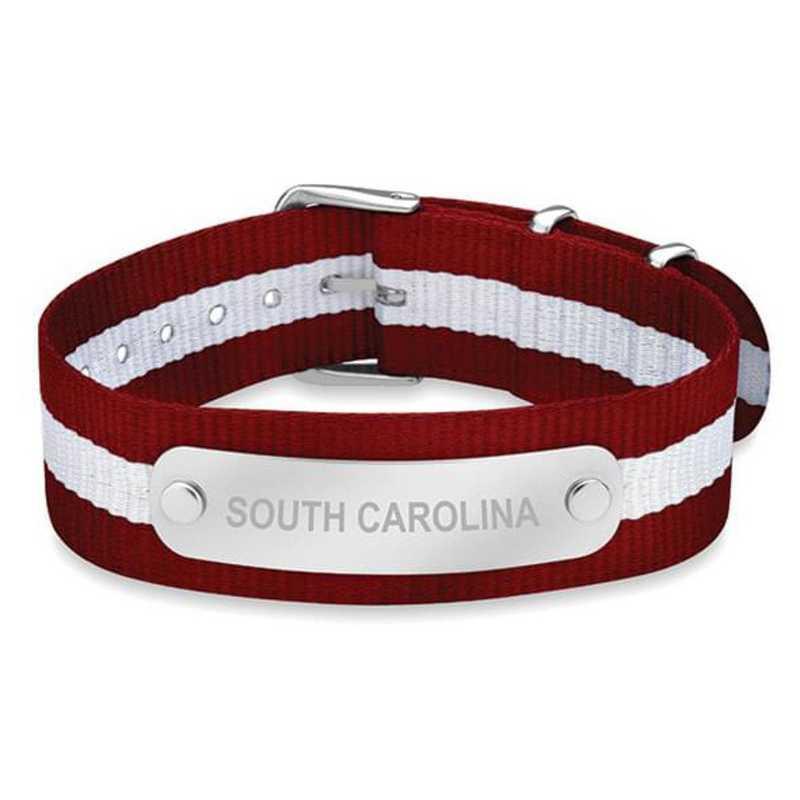 615789363620: South Carolina (Size-Large) NATO ID Bracelet