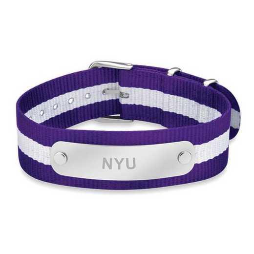 615789395485: NYU (Size-Medium) NATO ID Bracelet