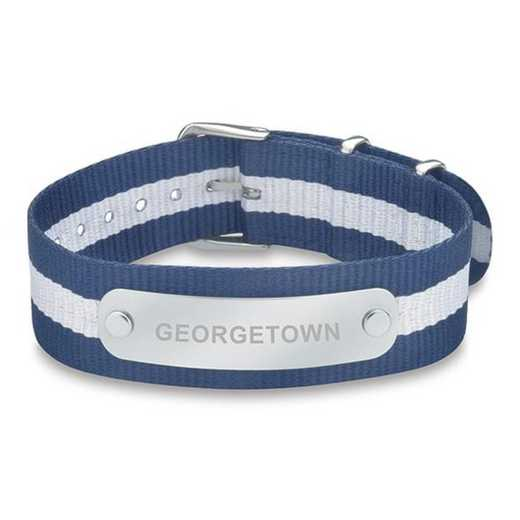 615789398646: Georgetown (Size-Large) NATO ID Bracelet