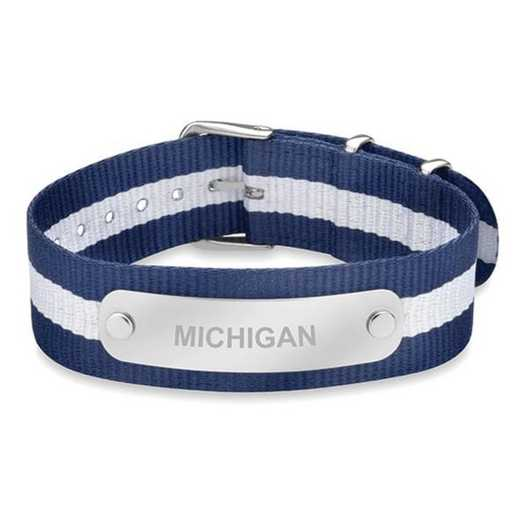 615789424826: Michigan (Size-Medium) NATO ID Bracelet