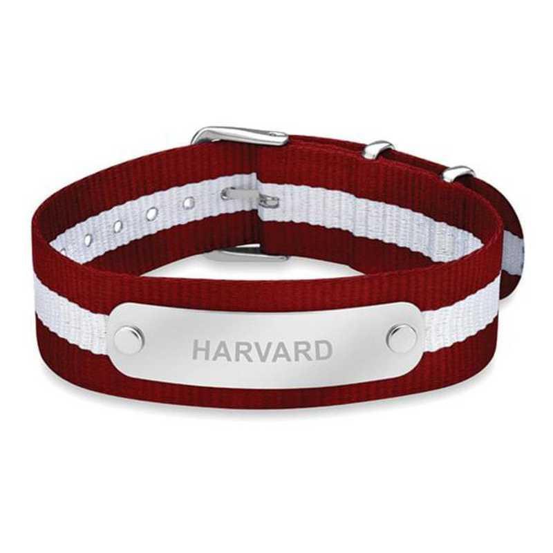 615789434139: Harvard (Size-Large) NATO ID Bracelet