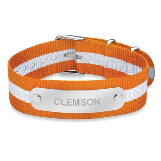 615789553977: Clemson (Size-Medium) NATO ID Bracelet