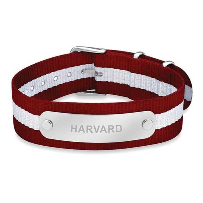 615789562504: Harvard (Size-Medium) NATO ID Bracelet