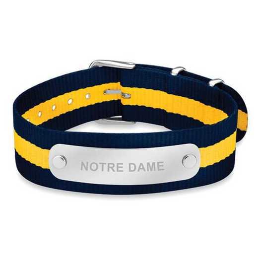 615789904038: Notre Dame (Size-Large) NATO ID Bracelet