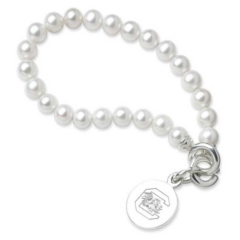 615789084167: South Carolina Pearl Bracelet W/ SS Charm