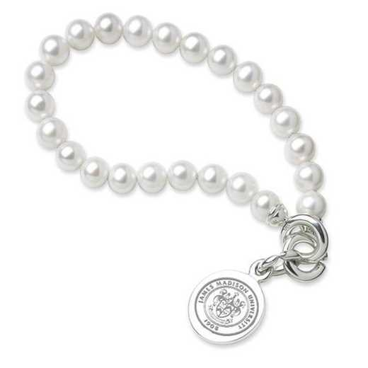 615789130925: James Madison Pearl Bracelet W/ SS Charm