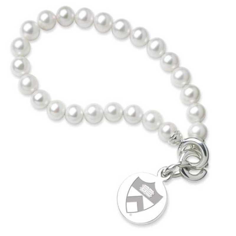 615789387015: Princeton Pearl Bracelet W/ SS Charm