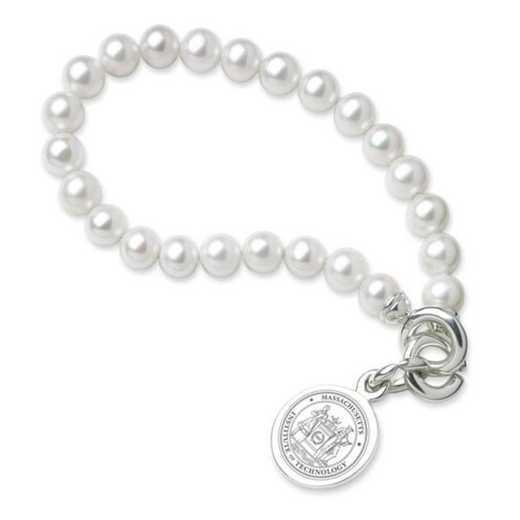 615789416159: MIT Pearl Bracelet W/ Sterling Charm