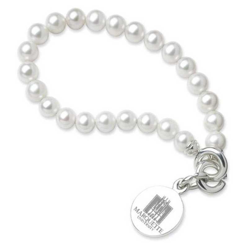 615789585299: Marquette Pearl Bracelet W/ SS Charm
