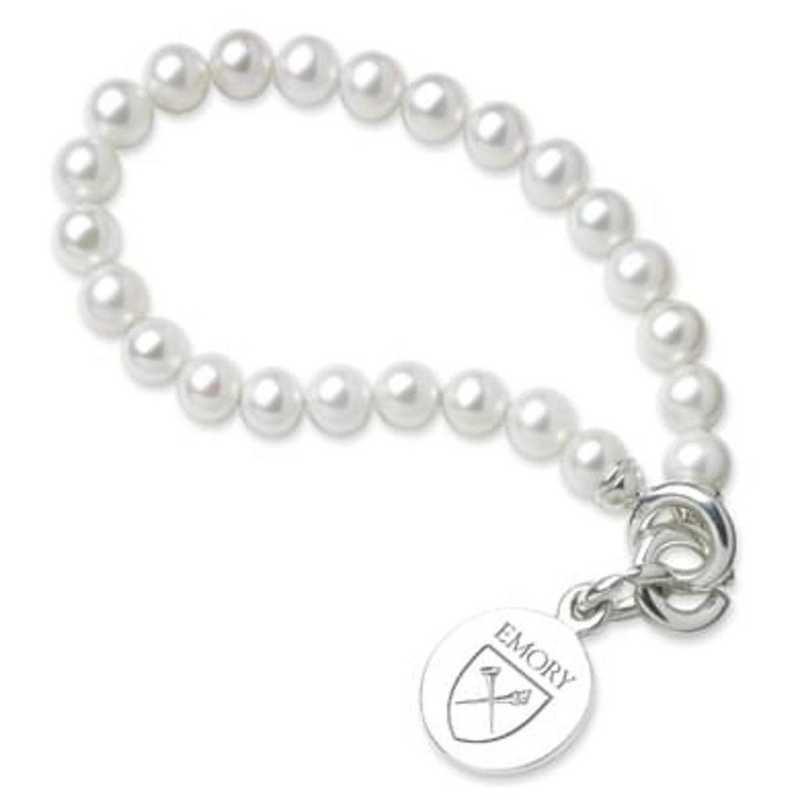 615789593355: Emory Pearl Bracelet W/ SS Charm