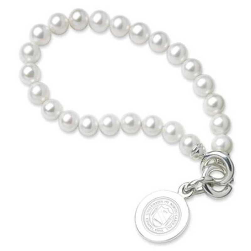 615789633990: UNC Pearl Bracelet W/ SS Charm
