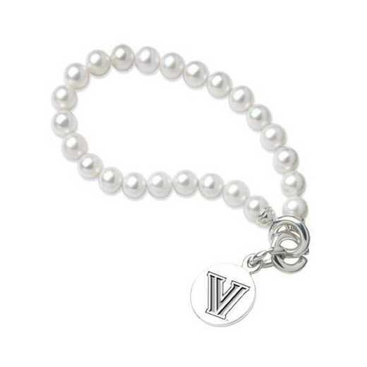 615789797203: Villanova Pearl Bracelet W/ Sterling Charm