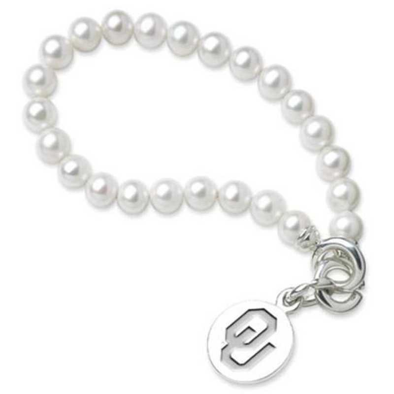 615789808282: Oklahoma Pearl Bracelet W/ SS Charm