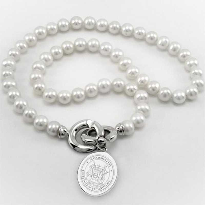 615789205340: MIT Pearl Necklace W/ SS Charm