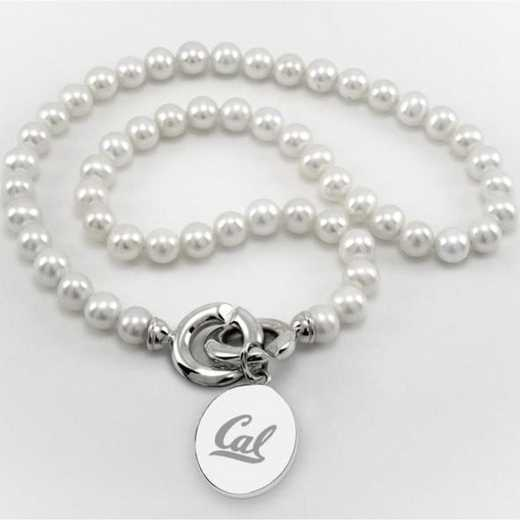 615789493525: Berkeley Pearl Necklace W/ SS Charm