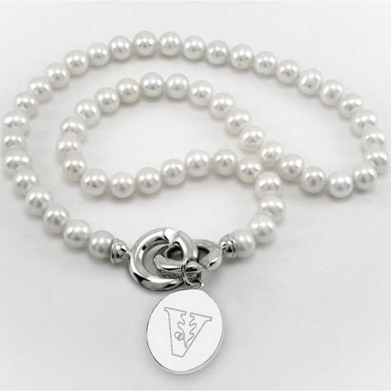 615789636663: Vanderbilt Pearl Necklace W/ SS Charm