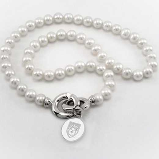 615789701651: Lehigh Pearl Necklace W/ SS Charm