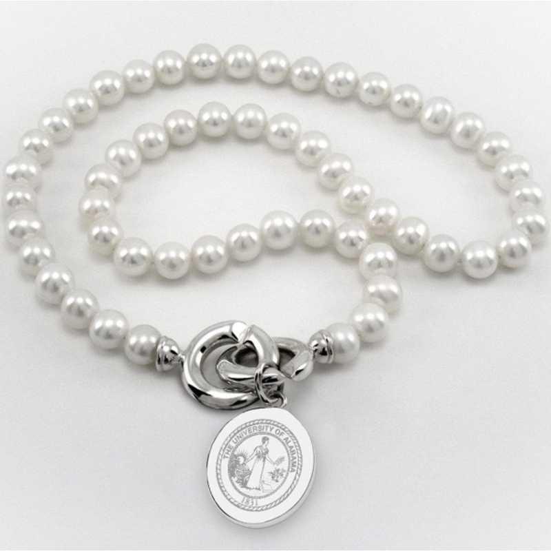 615789807391: Alabama Pearl Necklace W/ SS Charm