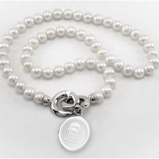 615789811336: SMU Pearl Necklace W/ SS Charm