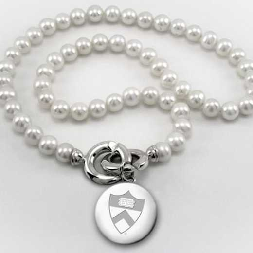 615789926757: Princeton Pearl Necklace W/ SS Charm