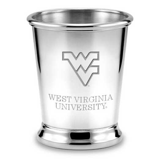 615789143260: West Virginia University Pewter Julep Cup by M.LaHart & Co.