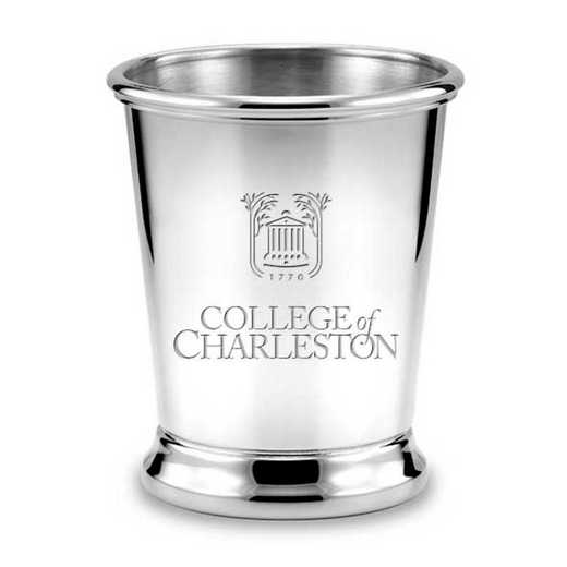 615789709411: College of Charleston Pewter Julep Cup by M.LaHart & Co.