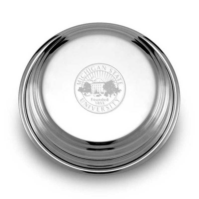 615789052449: Michigan State Pewter Paperweight