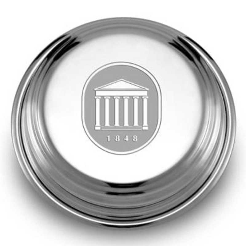 615789251187: Ole Miss Pewter Paperweight