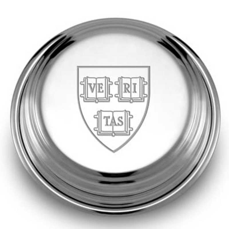 615789322375: Harvard Pewter Paperweight