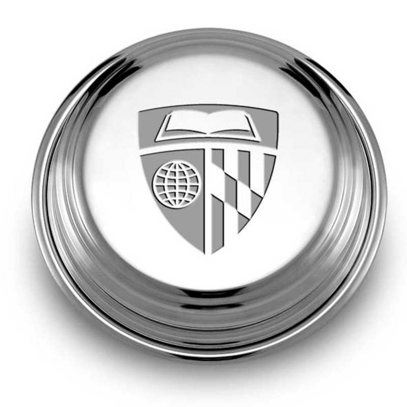 615789325765: Johns Hopkins Pewter Paperweight