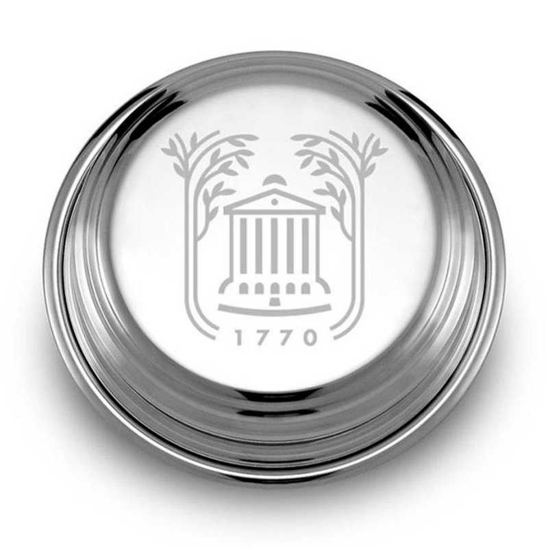 615789334392: College of Charleston Pewter Paperweight