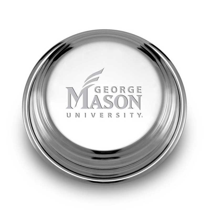 615789337775: George Mason University Pewter Paperweight