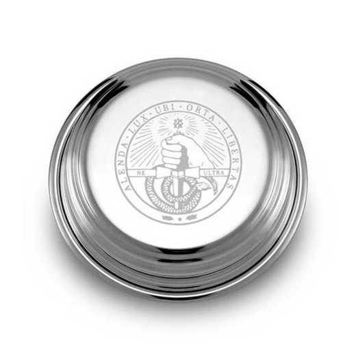 615789354994: Davidson College Pewter Paperweight