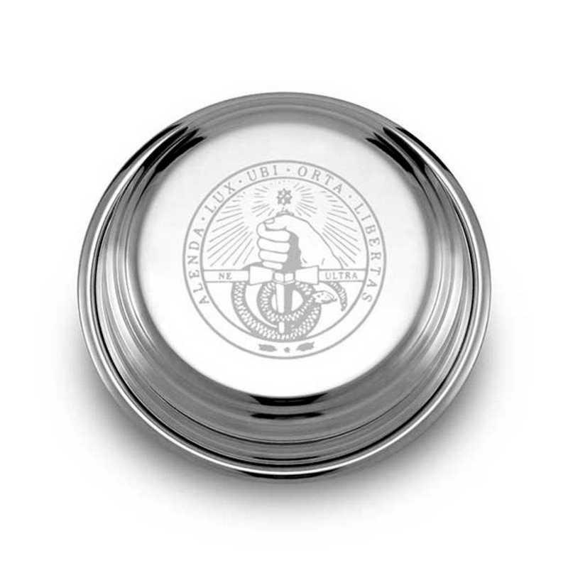 615789354994: Davidson College Pewter Paperweight