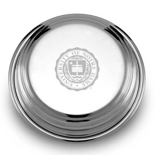 615789363378: Notre Dame Pewter Paperweight