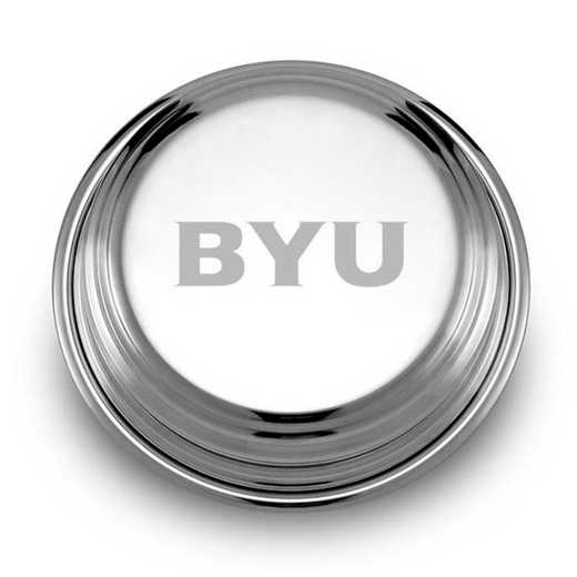 615789520382: Brigham Young University Pewter Paperweight