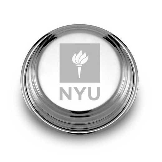 615789774112: NYU Pewter Paperweight